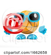 Poster, Art Print Of 3d Basketball Email