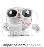 3d Baseball Drinks A Cup Of Coffee