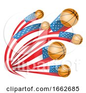 Basketballs With American Flag Tails by Domenico Condello