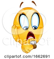 Poster, Art Print Of Yellow Smiley Emoji Emoticon Checking His Watch