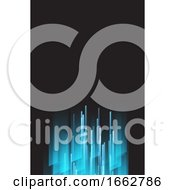 Poster, Art Print Of Blue And Back Business Card Background