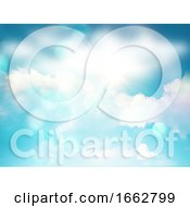3D Sunny Blue Sky With White Clouds