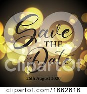 Poster, Art Print Of Decorative Bokeh Lights Save The Date Design