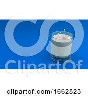 Glass Of Milk 3D Render