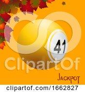 Autumn Bingo Lottery Ball And Leafs Jackpot