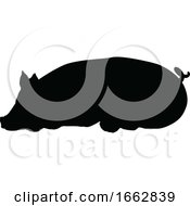 08/12/2019 - Pig Silhouette Farm Animal