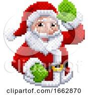 Santa Claus 8 Bit Video Game Pixel Art Style