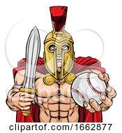 08/12/2019 - Spartan Trojan Baseball Sports Mascot