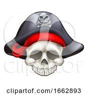 Poster, Art Print Of Pirate Skull Cartoon