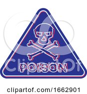 Poison Symbol Neon Flickering Icon