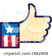 Poster, Art Print Of American Hand Thumbs Up Icon