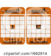 Halloween Blank Decorated Bingo Cards