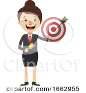 Woman With Target