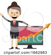 Woman Showing Growth Analytici by Morphart Creations