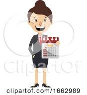 Woman Holding Calendar by Morphart Creations