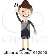 Woman Saying Hi by Morphart Creations