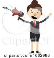 Woman Speaking On Megaphone by Morphart Creations