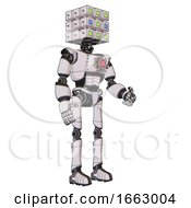 Bot Containing Dual Retro Camera Head And Cube Array Head And Light Chest Exoshielding And Red Energy Core And Ultralight Foot Exosuit