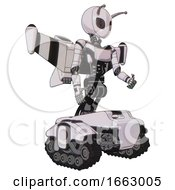 Cyborg Containing Grey Alien Style Head And Metal Grate Eyes And Bug Antennas And Light Chest Exoshielding And Ultralight Chest Exosuit And Stellar Jet Wing Rocket Pack And Tank Tracks