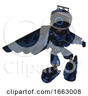 Bot Containing Digital Display Head And Circle Face And Led And Protection Bars And Light Chest Exoshielding And Ultralight Chest Exosuit And Pilots Wings Assembly