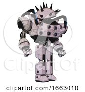 Bot Containing Thorny Domehead Design And Heavy Upper Chest And Chest Energy Sockets And Blue Strip Lights And Prototype Exoplate Legs