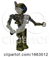 Robot Containing Digital Display Head And Wince Symbol Expression And Winglets And Heavy Upper Chest And No Chest Plating And Prototype Exoplate Legs