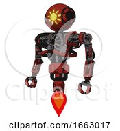 Droid Containing Oval Wide Head And Sunshine Patch Eye And Heavy Upper Chest And No Chest Plating And Jet Propulsion