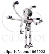 Droid Containing Digital Display Head And Sleeping Face And Light Chest Exoshielding And Ultralight Chest Exosuit And Blue Eye Cam Cable Tentacles And Ultralight Foot Exosuit