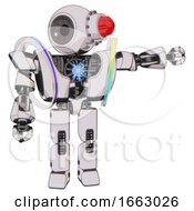 Robot Containing Round Head And Red Laser Crystal Array And Heavy Upper Chest And Heavy Mech Chest And Spectrum Fusion Core Chest And Prototype Exoplate Legs