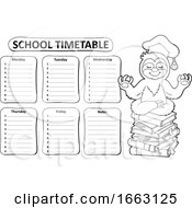 Meditating Professor Sloth And School Timetable by visekart