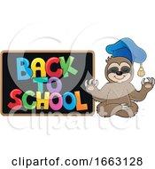 Poster, Art Print Of Meditating Professor Sloth By A Chalkboard