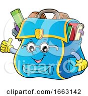 School Bag Character Giving A Thumb Up