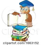 Poster, Art Print Of Professor Owl Holding A Book