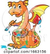 Artist Dragon Painting by visekart