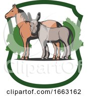 Poster, Art Print Of Horse And Donkey
