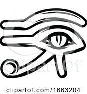 Black And White Egyptian Eye Of Horus