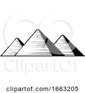 Black And White Egyptian Pyramids