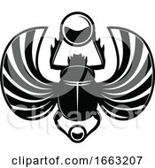 Black And White Egyptian Scarab Beetle