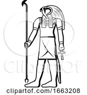 Black And White Egyptian God Horus