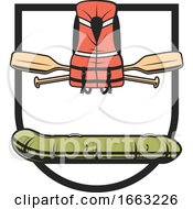 Raft Life Vest And Paddles