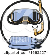 Snorkel Mask And Fins