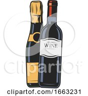 Wine Bottles by Vector Tradition SM