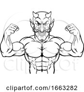 08/18/2019 - Devil Sports Mascot Cartoon Character