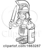 08/21/2019 - Roman Soldier Cartoon Character