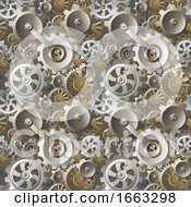 08/21/2019 - Gears And Cogs Seamless Machine Background