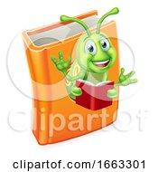 08/21/2019 - Caterpillar Bookworm Worm In Book Reading
