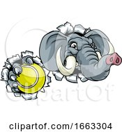 Elephant Tennis Ball Sports Animal Mascot