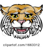 Wildcat Mascot Cute Happy Cartoon Character