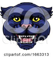 Panther Mascot Cute Happy Cartoon Character