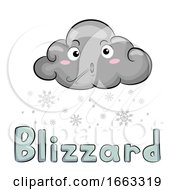 Mascot Cloud Blizzard Illustration